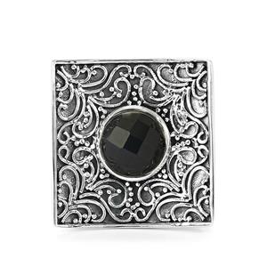 2.10ct Black Onyx Sterling Silver Ring