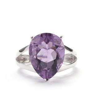 Purple Fluorite Ring in Sterling Silver 10.14cts