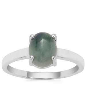 Burmese Jade Ring in Sterling Silver 2.24cts