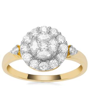 Diamond Ring in 18K Gold 0.76ct
