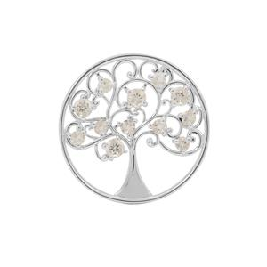 1.80ct Serenite Sterling Silver Tree of Life Pendant