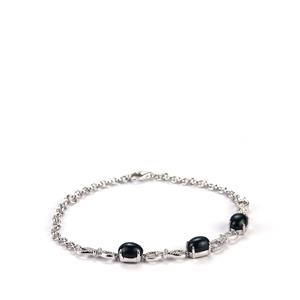 Madagascan Blue Star Sapphire Bracelet in Sterling Silver 6.59cts