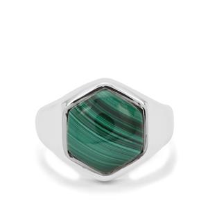 Malachite Ring in Sterling Silver 6.74cts