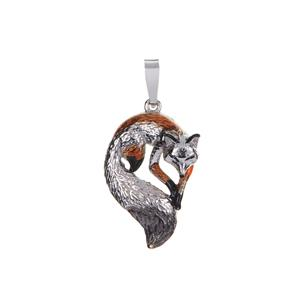 Fox Pendant in Sterling Silver