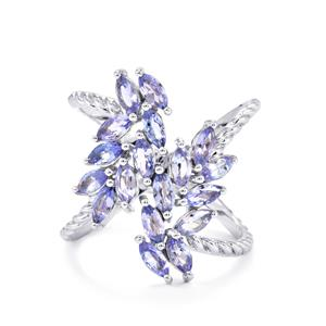 Tanzanite Ring in Sterling Silver 1.87cts