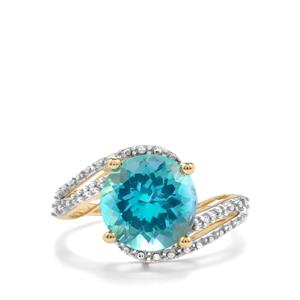 Batalha Topaz Ring with White Zircon in 9K Gold 4.45cts