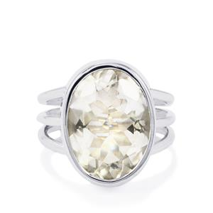 Optic Quartz Ring in Sterling Silver 9cts