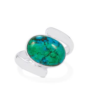 6ct Chrysocolla Sterling Silver Aryonna Ring