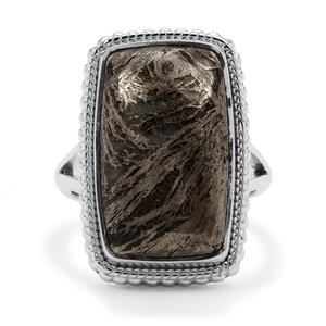 Feather Pyrite Ring in Sterling Silver 16.50cts