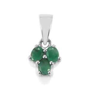 Carnaiba Brazilian Emerald Pendant in Sterling Silver 0.55cts