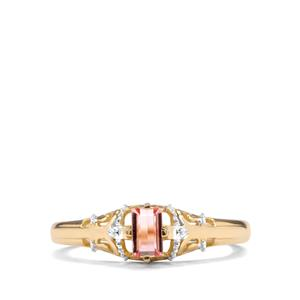 Idar Imperial Topaz Ring in 9K Gold 0.39cts