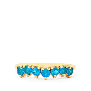 Neon Apatite Ring in 10k Gold 0.60ct
