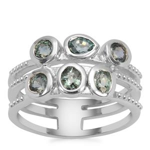 Natural Umba Sapphire Ring in Sterling Silver 1.52cts