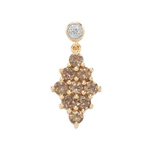 Menarandra Garnet Pendant with Diamond in 9K Gold 2.09cts