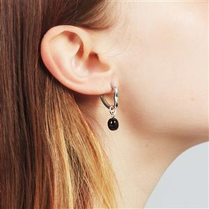 Molte Heart Hoop Earrings in Sterling Silver