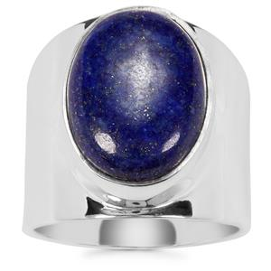 Sar-i-Sang Lapis Lazuli Cuff Ring in Sterling Silver 10cts
