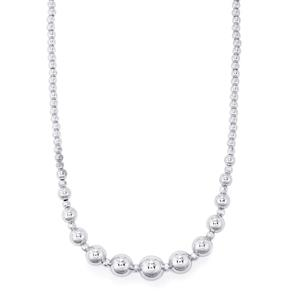 "18"" Diamond Cut Disco Ball Graduate Necklace in Sterling Silver 23.51g"
