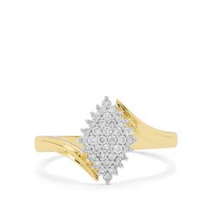 GH Diamond Ring in 18K Gold 0.25ct