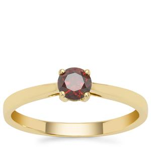 Fancy Red Diamond Ring in 9K Gold 0.40ct