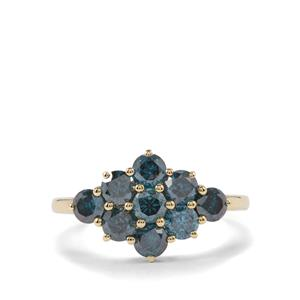 1.35ct Blue Diamond 9K Gold Ring