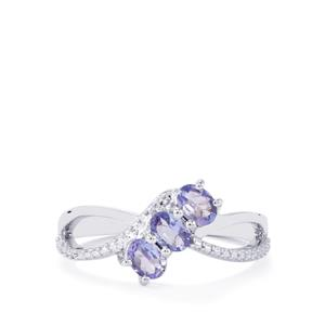 Tanzanite Ring in Sterling Silver 0.59cts