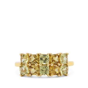 Mansanite™ Ring in 9K Gold 2.55cts