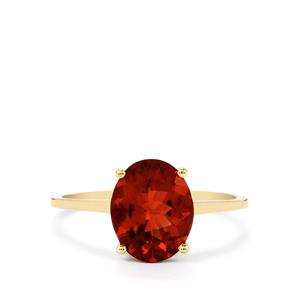 1.90ct Tarocco Red Andesine 10K Gold Ring