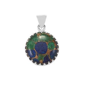 Mojave Azurite Pendant in Sterling Silver 20cts
