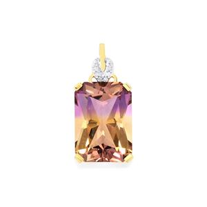 Anahi Ametrine Pendant with Diamond in 9K Gold 6.63cts