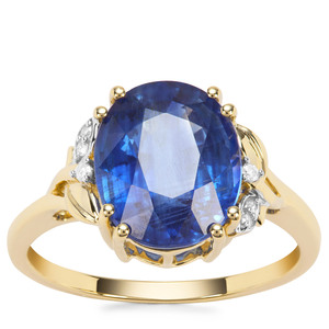 Nilamani Ring with Diamond in 9K Gold 4.40cts