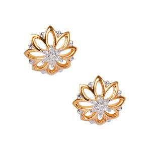 Diamond Earrings in 10K Gold 0.09ct