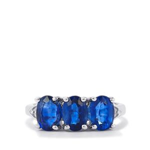 Daha Kyanite & Diamond Sterling Silver Ring ATGW 3.07cts