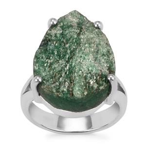Fuchsite Drusy Ring in Sterling Silver 14cts