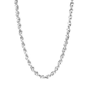 "20"" 9K White Gold Classico Prince of Wales Chain 4.20g"