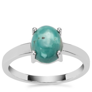 2.22ct Lhasa Turquoise Sterling Silver Aryonna Ring