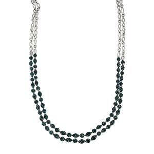 Blue Diamond Necklace in Sterling Silver 4ct