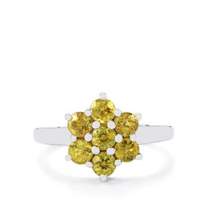 1.41ct Ambilobe Sphene Sterling Silver Ring