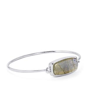 22ct Labradorite Sterling Silver Bar Bangle