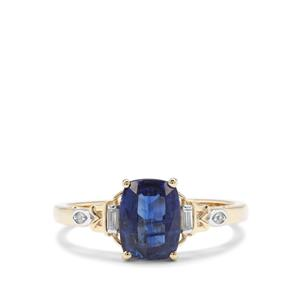 Nilamani & White Zircon 9K Gold Ring ATGW 1.83cts