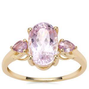 Kolum Kunzite Ring with Sakaraha Pink Sapphire in 9K Gold 3.70cts