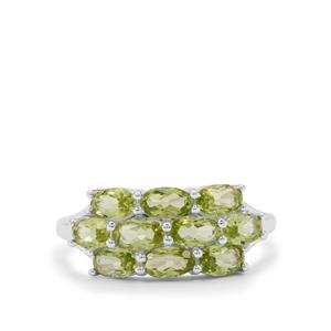 Red Dragon Peridot Ring in Sterling Silver 2.45cts