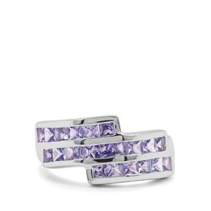 1.97cts Tanzanite Sterling Silver Ring