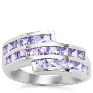 Tanzanite Ring in Sterling Silver 1.97cts