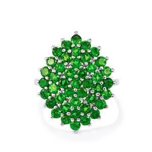3.54ct Chrome Diopside Sterling Silver Ring