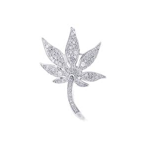 Diamond Brooch in Sterling Silver 0.79ct