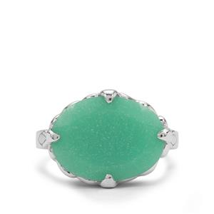 Chrysoprase Ring in Sterling Silver 7.45cts
