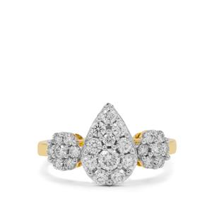 Diamond Ring in 18K Gold 1cts
