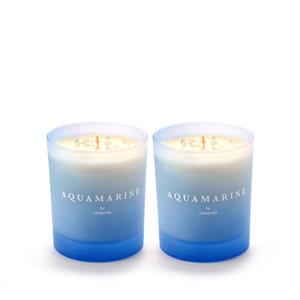 2 X Ombre Birthstone Range - March Aquamarine Candle, Ocean Wave Fragrance ATGW 6cts