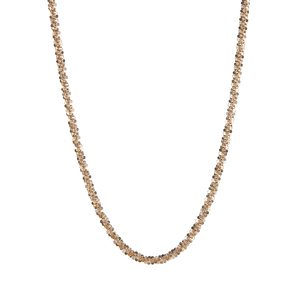 "18"" 9K Gold Couture Criss Cross Chain 2.95g"