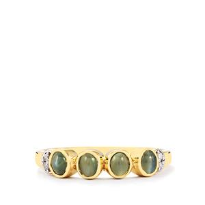 Cats Eye Alexandrite & Diamond 10K Gold Ring ATGW 0.86cts